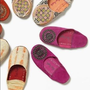 Free People NWOT Moroccan Beaded Slippers